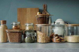 decluttering home kitchen clear jars store flour dry goods the linen duck