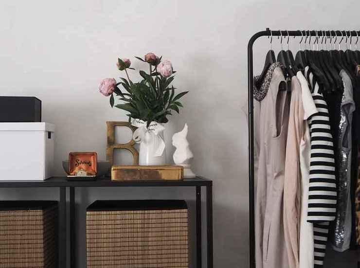 beautiful organization woven bins clothing bedroom